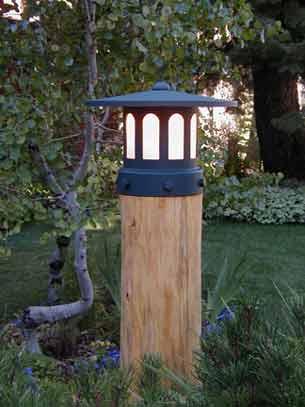 Log Lamp Large View 2